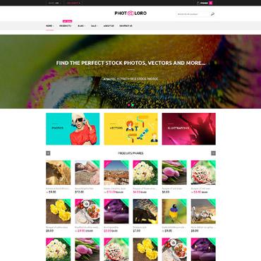 Купить Шаблон интернет-магазина изображений и фото. Купить шаблон #61209 и создать сайт.