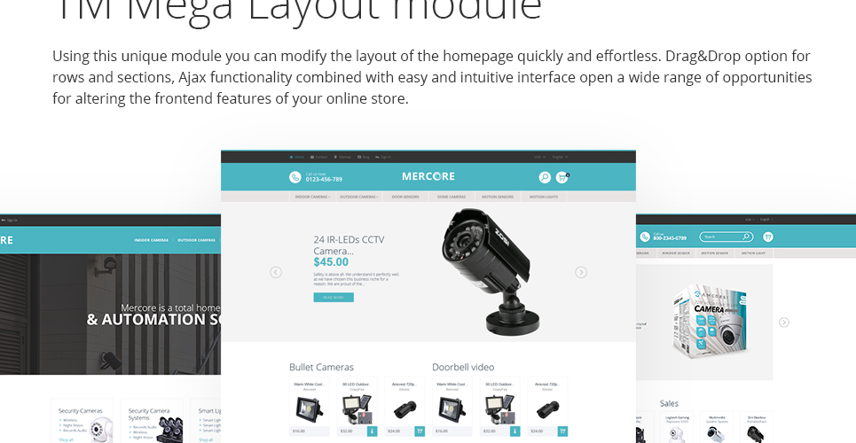 Safety Equipment Store PrestaShop Theme is implemented with mega layout module to customize your homepage layout easily