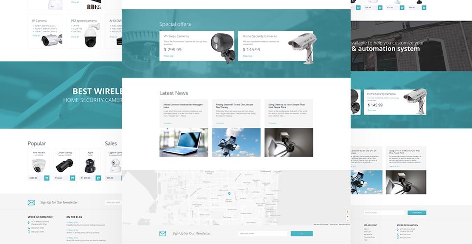 Safety Equipment Store PrestaShop Theme's layout designs demos