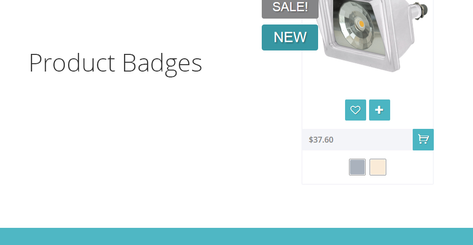 Safety Equipment Store PrestaShop Theme can show the customer with the product badges