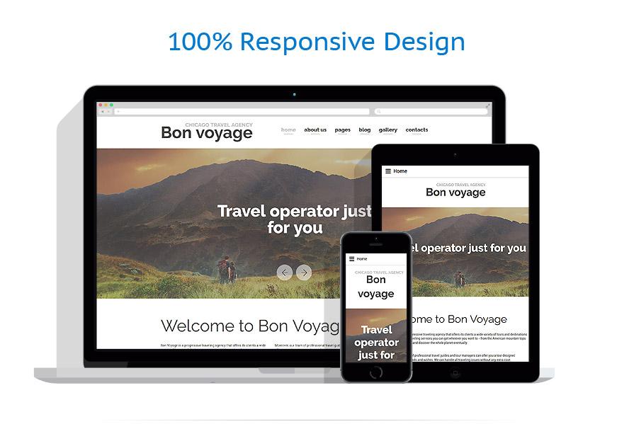 Шаблон сайта туристического агентства - Bon voyage