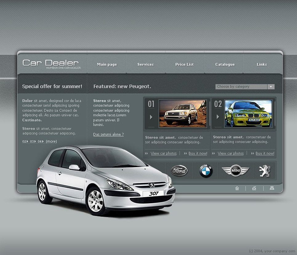 Car Dealer Flash Template New Screenshots BIG