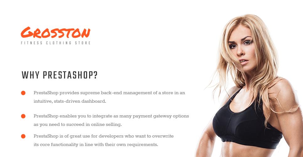 Crosston - Fitness Clothing Store PrestaShop Theme