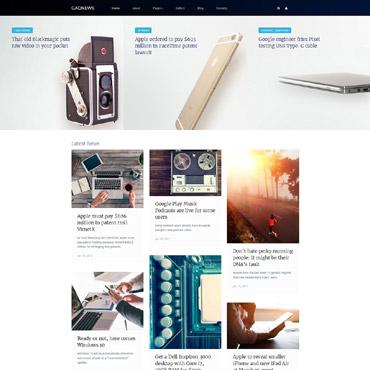 Купить Шаблон сайта о новинках электроники и гаджетах. Купить шаблон #62162 и создать сайт.