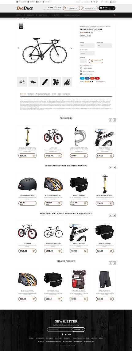 TM 62331: Скриншот страницы продукта Prestashop