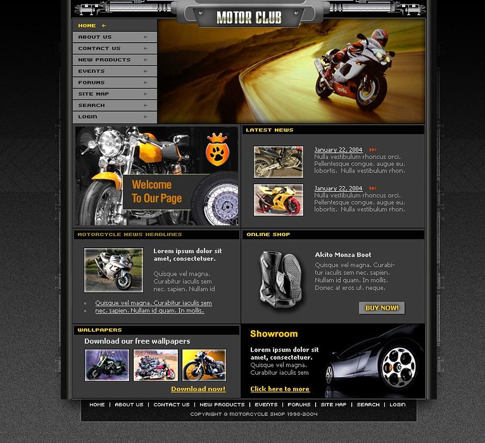 Motor Sports Website Template New Screenshots BIG