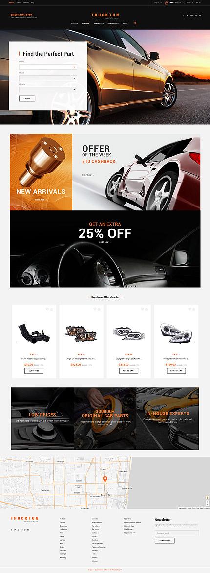 TM 63543: Скриншот главной страницы PrestaShop