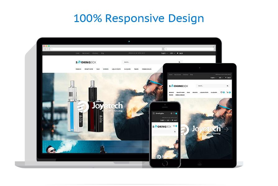 Шаблон интернет магазина электронных сигарет - SMOKIGBOX