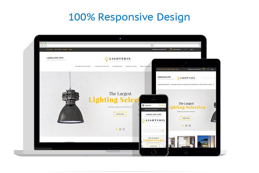 Шаблон интернет магазина светильников - LIGHTEDIX