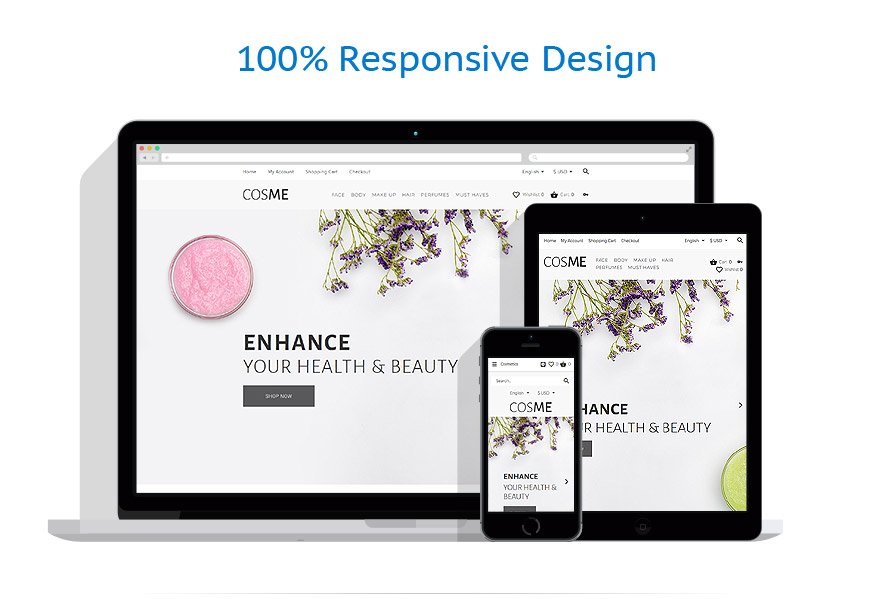 OpenCart шаблон интернет магазина косметики - COSME