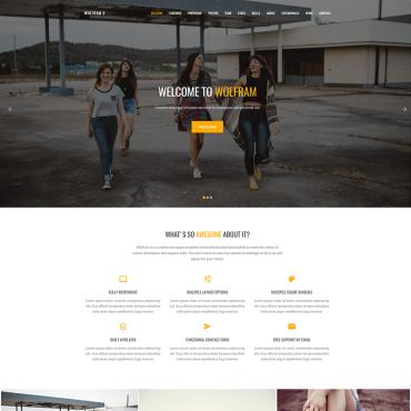 Buy Premium Responsive Landing Page Templates. Template #64798. ArtelWEB Template Store Online.