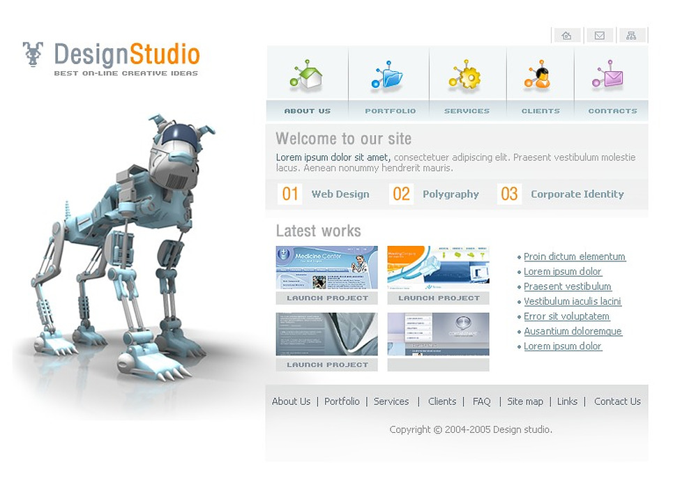3d дизайны сайтов