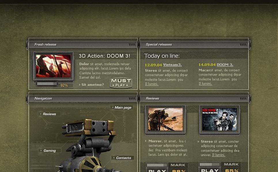 Games Flash Template New Screenshots BIG