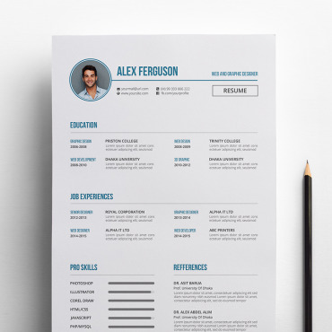Купить  пофессиональные Resume Templates. Купить шаблон #65143 и создать сайт.
