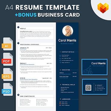 Купить  пофессиональные Resume Templates. Купить шаблон #65255 и создать сайт.