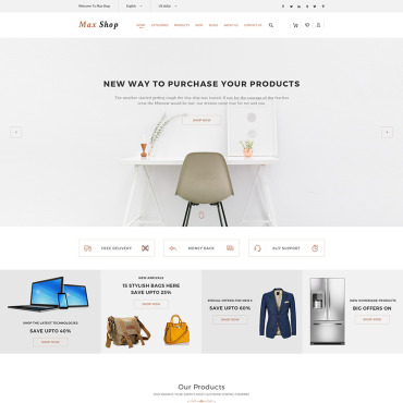 Buy Premium Responsive WooCommerce Themes. Template #65634. ArtelWEB Template Store Online.