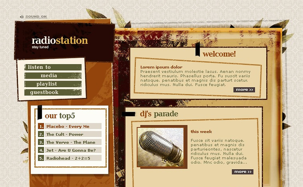 Radio Website Flash Template New Screenshots BIG