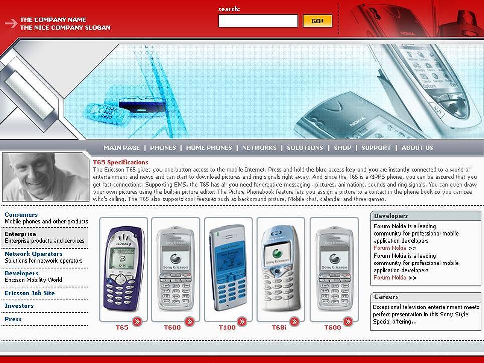 Communications PHP-Nuke Template New Screenshots BIG