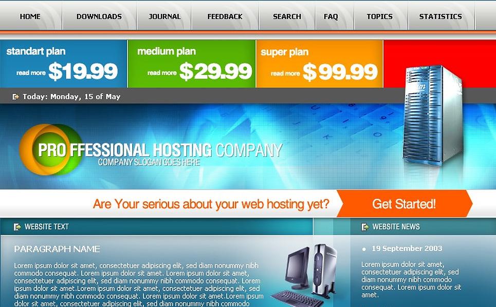 Hosting PHP-Nuke Template New Screenshots BIG