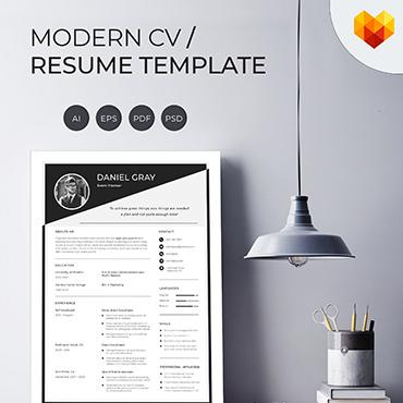 Купить  пофессиональные Resume Templates. Купить шаблон #66457 и создать сайт.