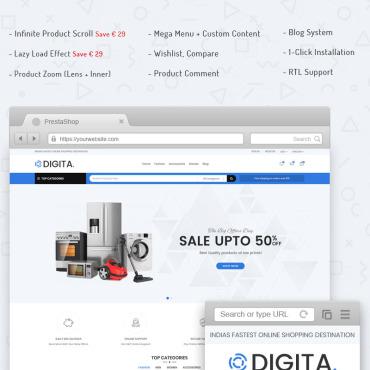 Купить  пофессиональные PrestaShop шаблоны. Купить шаблон #71176 и создать сайт.