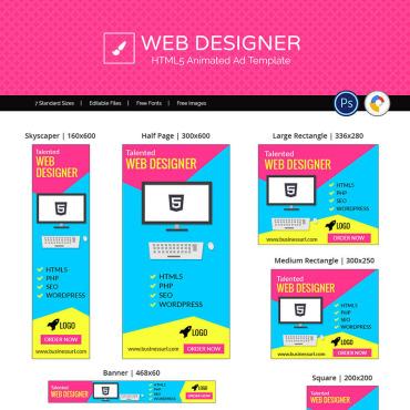 Купить  пофессиональные Animated Banners. Купить шаблон #71886 и создать сайт.