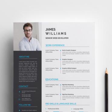 Купить  пофессиональные Resume Templates. Купить шаблон #72045 и создать сайт.