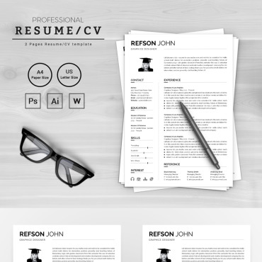 Купить  пофессиональные Resume Templates. Купить шаблон #72047 и создать сайт.