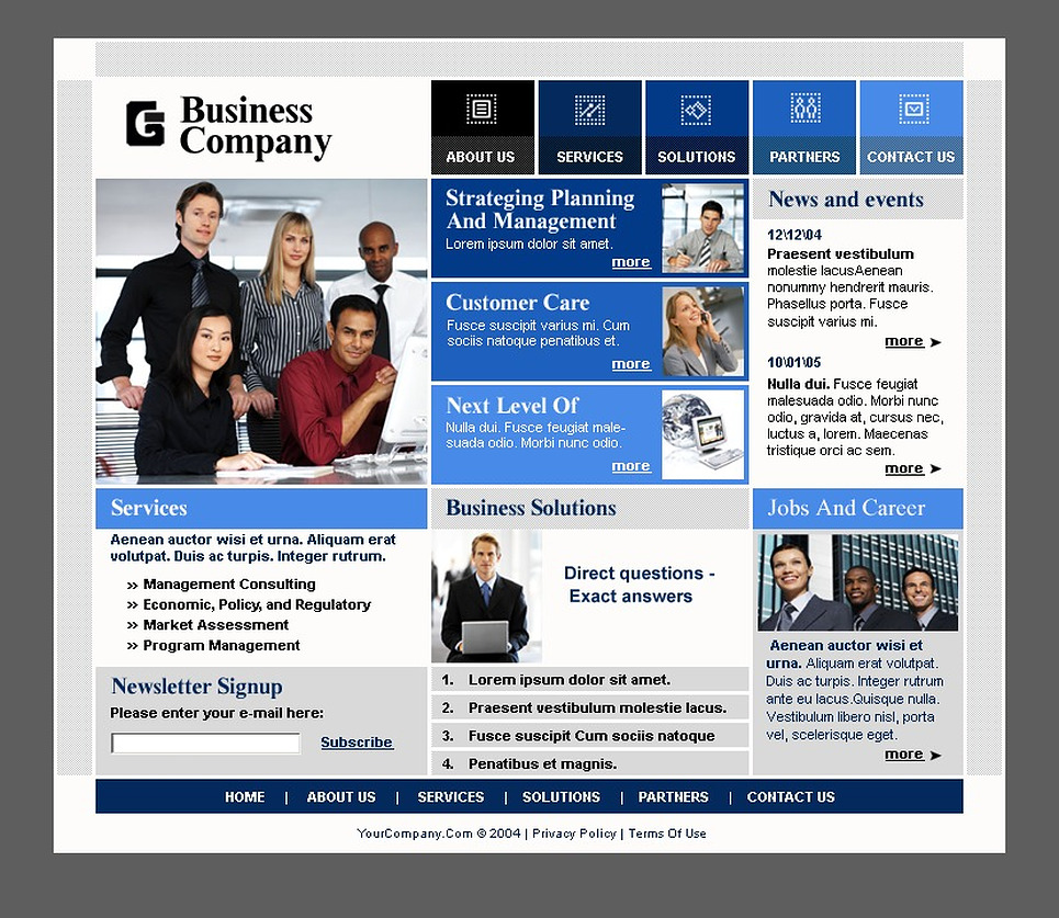 Бизнес сайта дизайн