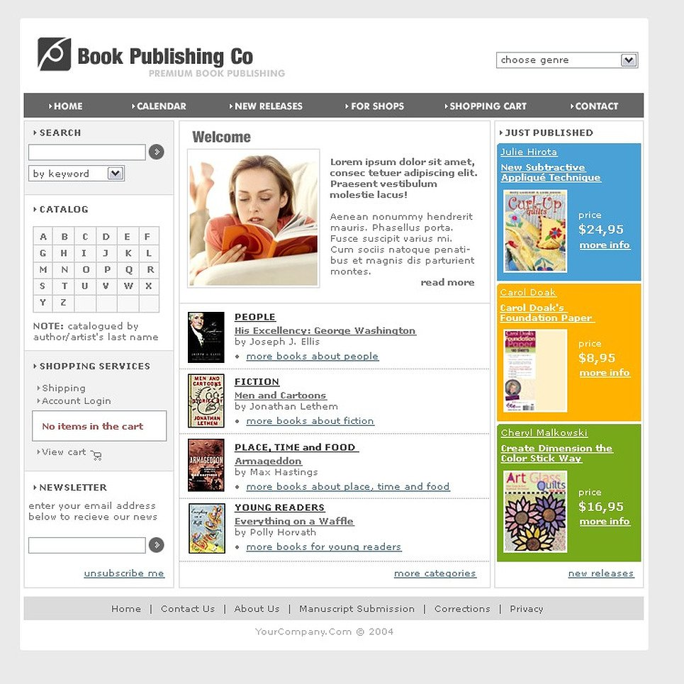 Publishing company website template 7325 for Publisher website templates