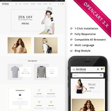 Купить  пофессиональные OpenCart шаблоны. Купить шаблон #73391 и создать сайт.