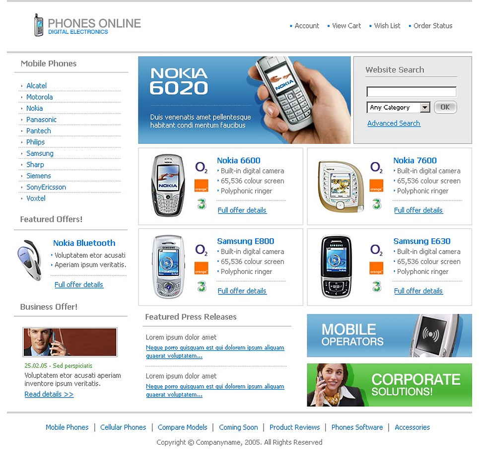 mobile website templates driverlayer search engine. Black Bedroom Furniture Sets. Home Design Ideas