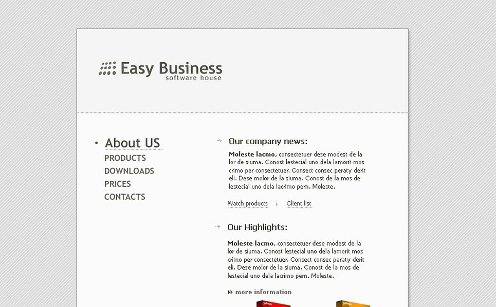 Software Store Flash Template New Screenshots BIG