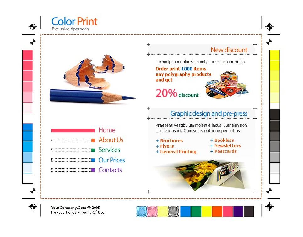 print shop website template 7462. Black Bedroom Furniture Sets. Home Design Ideas