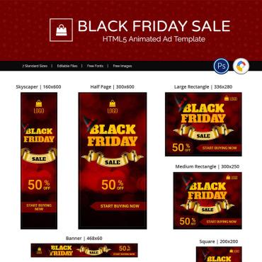 Купить  пофессиональные Animated Banners. Купить шаблон #74129 и создать сайт.