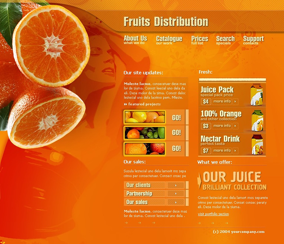 Fruit Flash Template New Screenshots BIG