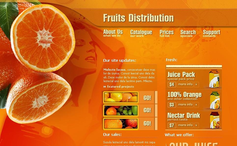 Fruit Flash Template New Screenshots BIG