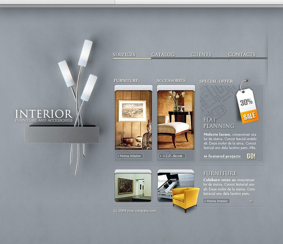Interior Design Flash Template 7651