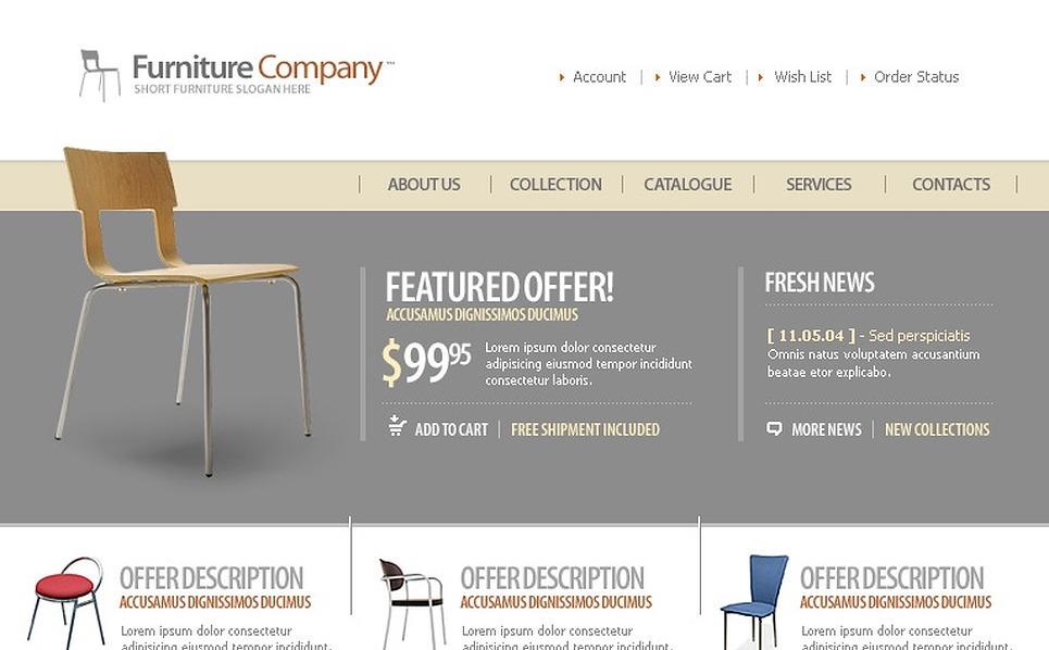 Furniture Website Template New Screenshots BIG