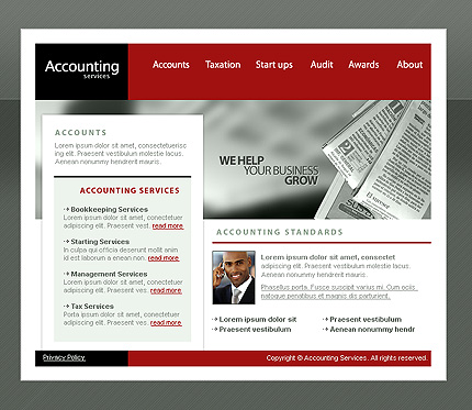 Accounting writer website examples