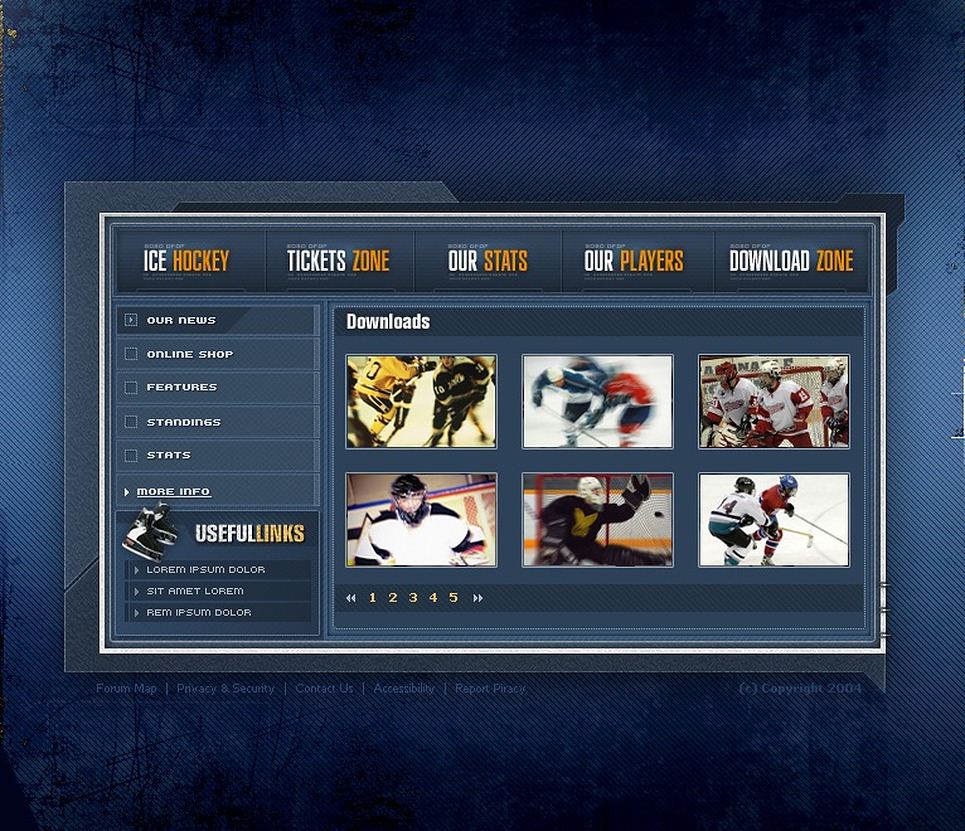 Hockey Flash Template New Screenshots BIG