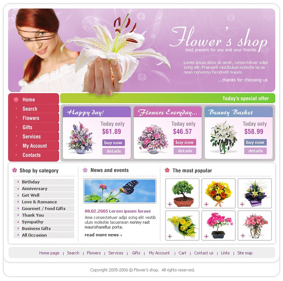Awesome Responsive Flowers for Special Occasions PrestaShop Theme 139