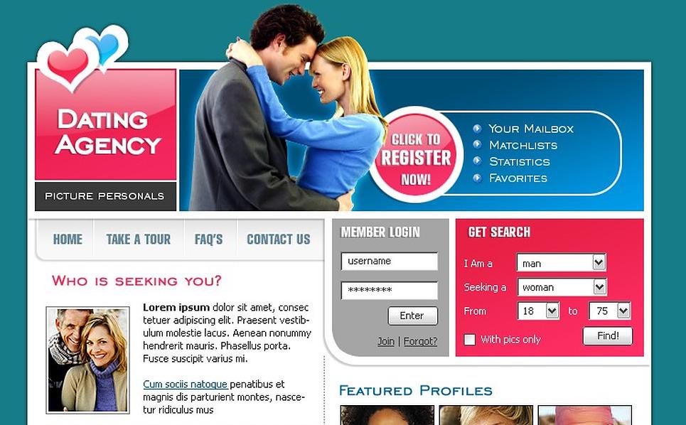 dating website template 8067. Black Bedroom Furniture Sets. Home Design Ideas