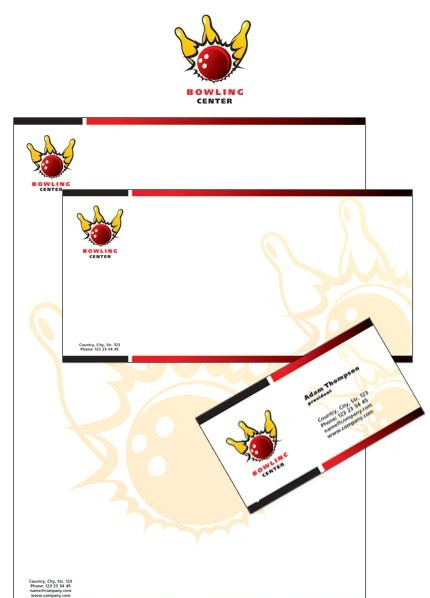 Bowling Corporate Identity Template Vector Corporate Identity preview
