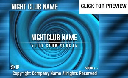 Night Club Flash Intro Template FLASH INTRO SCREENSHOT