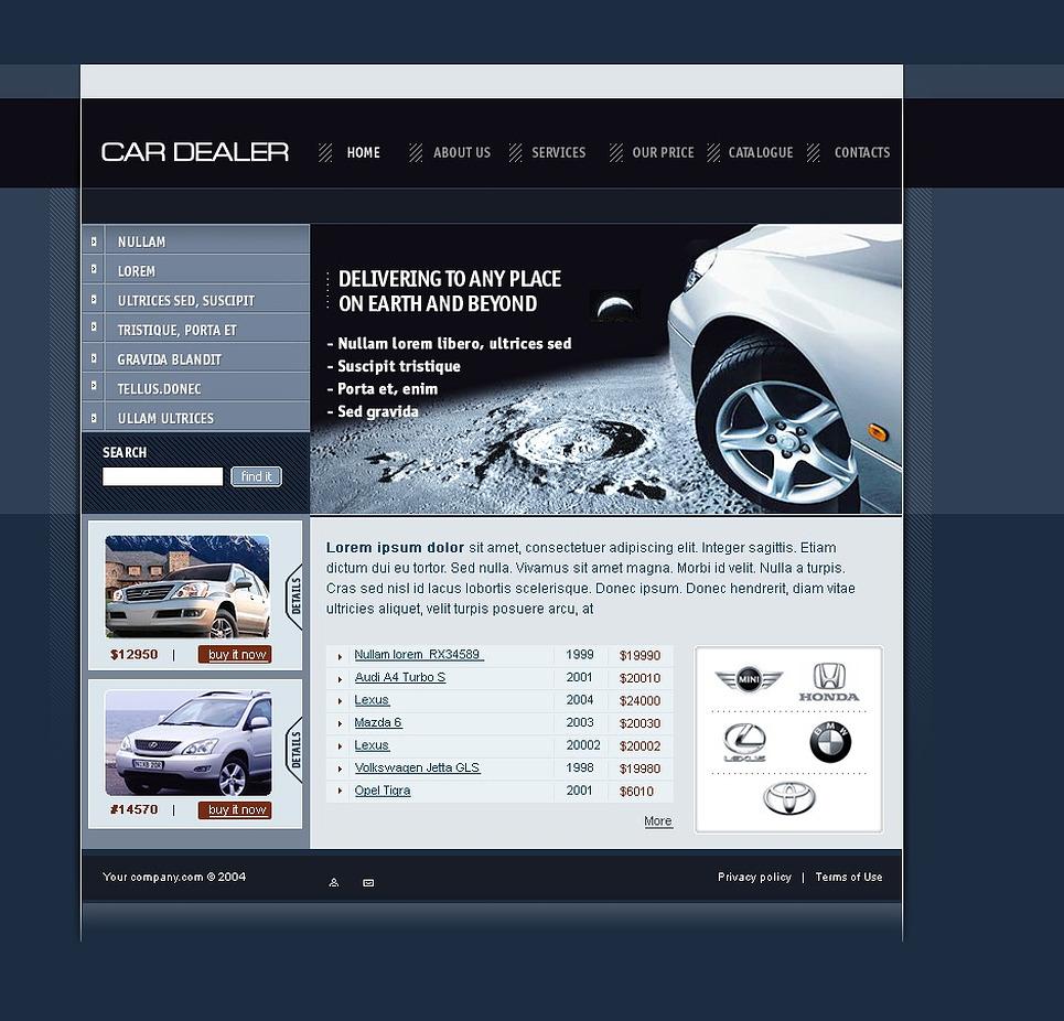 Car Dealer SWiSH Template New Screenshots BIG