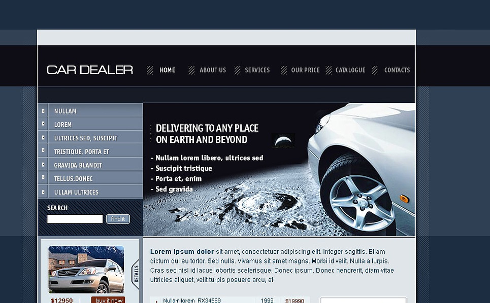 Car Dealer SWiSH Template New Screenshots BIG