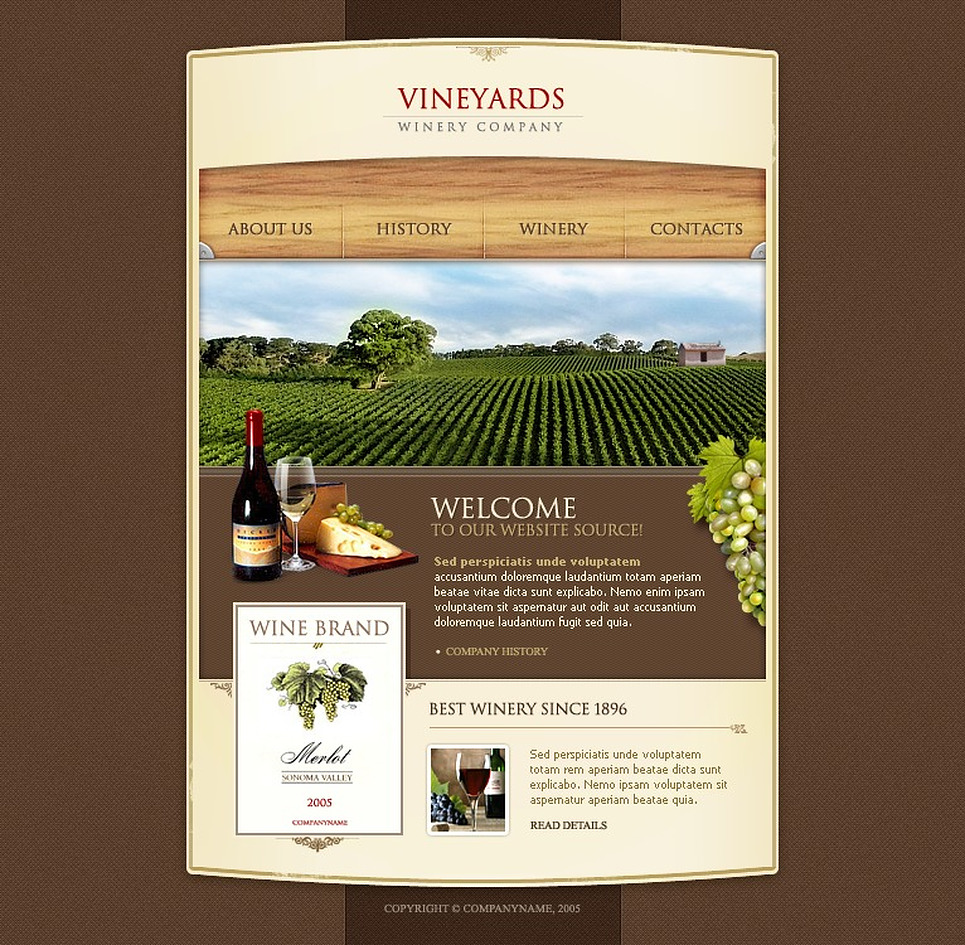 Winery Flash Template New Screenshots BIG