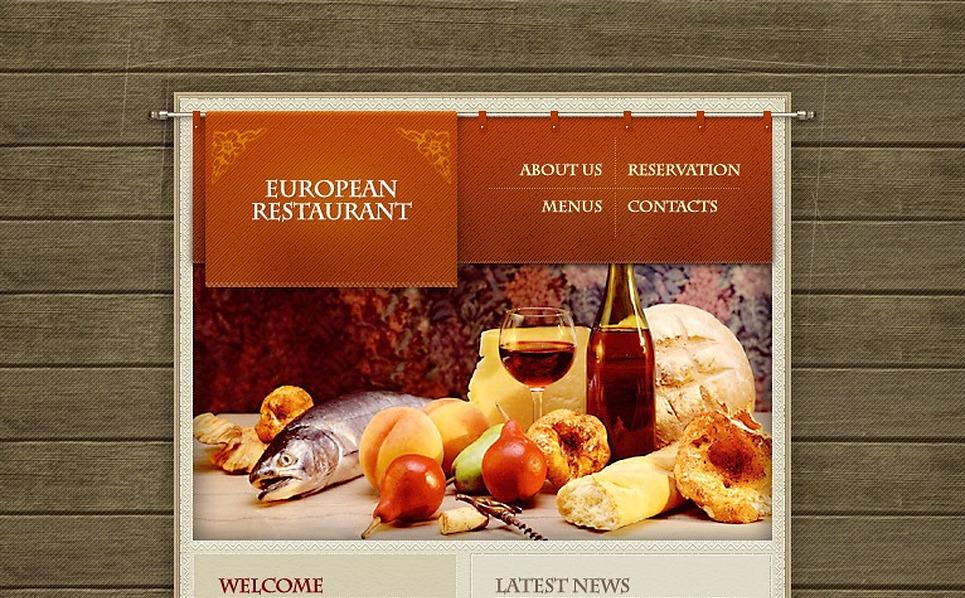 European Restaurant Flash Template New Screenshots BIG