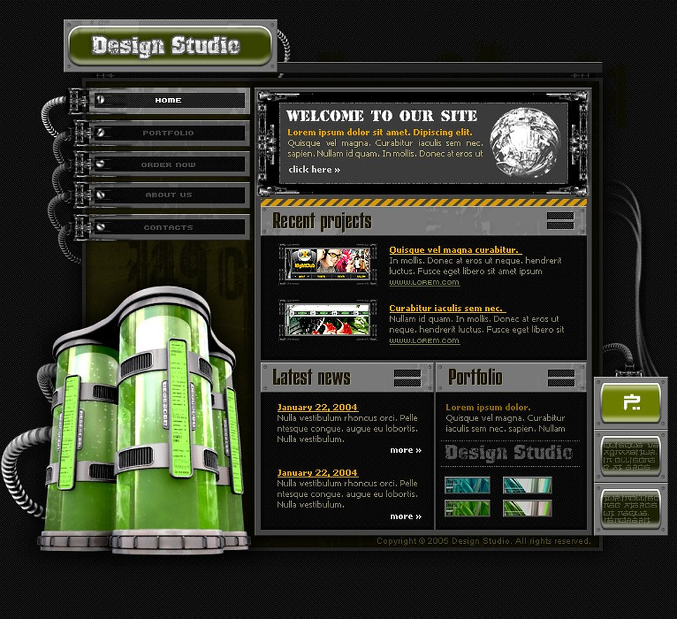 Design Studio Flash Template New Screenshots BIG